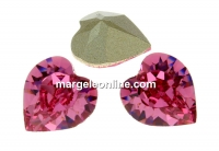 Swarovski, fancy chaton inima, rose, 8mm - x2