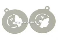 Pandantiv banut cu fetita argint 925, 16mm  - x1