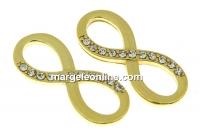 Link infinit cu cristale argint 925 placat cu aur, 20mm  - x1