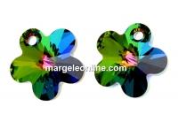 Swarovski, pandantiv floare, vitrail medium, 12mm - x2