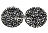 Swarovski, cabochon f. rocks, black light chrome, 19.5mm - x1