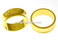 Baza inel suport cristale, argint 925 aurit, interior 16.3mm - x1