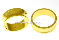 Baza inel suport cristale, argint 925 aurit, interior 17.5mm - x1