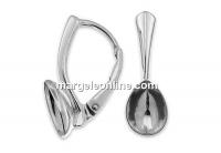 Tortite cercei argint 925, pt Swarovski 4320 de 10x7mm - x1per