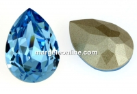 Swarovski, fancy picatura, aquamarine, 10x7mm - x1