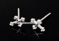 Tortite cercei cruce, argint 925, 12.5mm - x1per