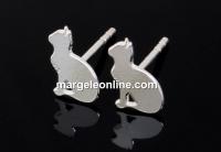 Tortite cercei pisicuta, argint 925, 12.5mm - x1per