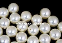 Perle Swarovski cu un orificiu, cream, 10mm - x2
