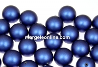 Perle Swarovski cu un orificiu, iridescent dark blue, 8mm - x2