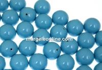 Perle Swarovski cu un orificiu, turquoise, 12mm - x2