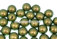 Perle Swarovski cu un orificiu, iridescent green, 12mm - x2