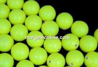 Perle Swarovski cu un orificiu, neon yellow, 10mm - x2
