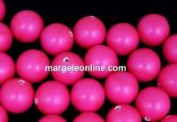 Perle Swarovski cu un orificiu, neon pink, 12mm - x2