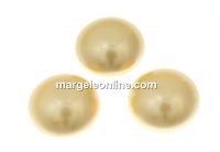 Swarovski, cabochon perla cristal, light gold, 10mm - x2