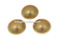Swarovski, cabochon perla cristal, vintage gold, 10mm - x2