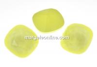 Swarovski, fancy square, powder yellow, 10mm - x1