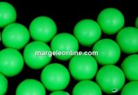 Perle Swarovski cu un orificiu, neon green, 6mm - x4