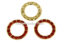 Swarovski, disc placat cu aur, light siam, 15.5mm - x1