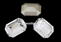 Swarovski, fancy rectangle, crystal, 14x10mm - x1