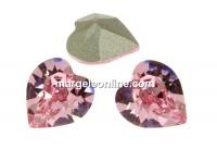Swarovski, fancy chaton inima, light rose, 5.5mm - x4