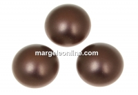 Swarovski, cabochon perla cristal, velvet brown, 8mm - x2