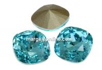 Swarovski, fancy square, light turquoise, 8mm - x1