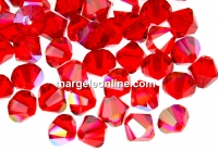 Swarovski, margele bicone, light siam shimmer, 6mm - x10