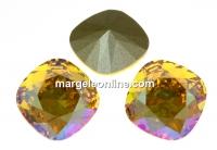 Swarovski, fancy square, light topaz shimmer, 12mm - x1