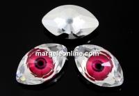 Swarovski, rivoli cabochon Eye, fuchsia, 18mm - x1