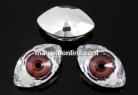 Swarovski, rivoli cabochon Eye, maroon, 18mm - x1