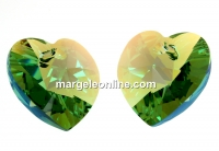 Swarovski, pandantiv inima, erinite shimmer, 18mm - x1