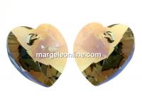 Swarovski, pandantiv inima, bl. diamond shimmer, 14mm - x2