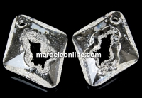 Swarovski, pand.growing rhombus, crystal, 36mm - x1