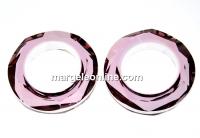 Swarovski, pandantiv cosmic ring, antique pink, 14mm - x1