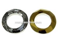 Swarovski, pandantiv cosmic ring, dorado, 20mm - x1
