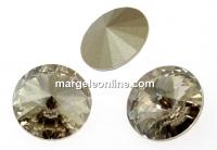 Swarovski, rivoli, silver shade, 18mm - x1