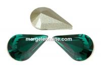 Swarovski, fancy rivoli Pear, emerald, 10mm - x2