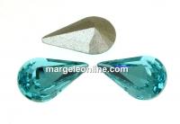 Swarovski, fancy rivoli Pear, light turquoise, 6mm - x4