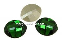 Swarovski, fancy rivoli, pure leaf, dark moss green, 14mm - x1