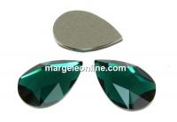 Swarovski, cabochon picatura, emerald, 14x9mm - x1