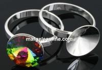Baza inel argint 925, rivoli 16-18mm, interior 19.1mm - x1