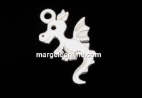 Pandantiv, argint 925, dragon, 14mm  - x1