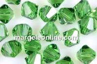 Swarovski, margele bicone, fern green, 3mm - x20