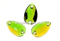 Swarovski, link picatura, fern green -topaz, 12x7mm - x1