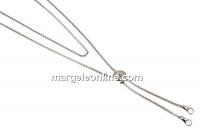 Baza colier pentru linkuri, argint 925 placat cu rodiu, 70cm - x1