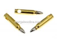 Pandantiv glont argint 925 placat cu aur, 20mm  - x1