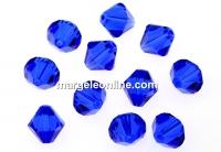 Swarovski, margele bicone, majestic blue, 8mm - x10