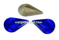 Swarovski, fancy rivoli Pear, majestic blue, 6x3.6mm - x4