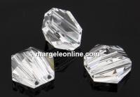 Swarovski, margele, tinta hexagonala, crystal, 7.5mm - x2