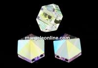 Swarovski, margele, tinta hexagonala, aurore boreale, 7.5mm - x2
